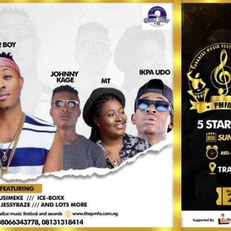 PMFA 2018: SUGAR BOY TO HEADLINE 5TH PARADISE MUSIC FESTIVAL & AWARDS IN CALABAR